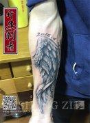 手臂内侧翅膀纹身图案大全