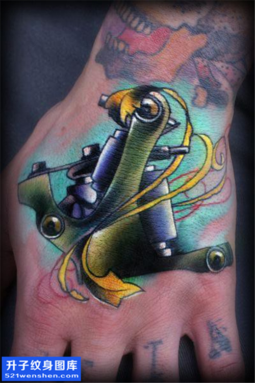 男性欧美手背纹身机图案大全