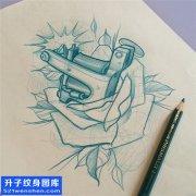 男性欧美纹身机纹身手稿图案大全