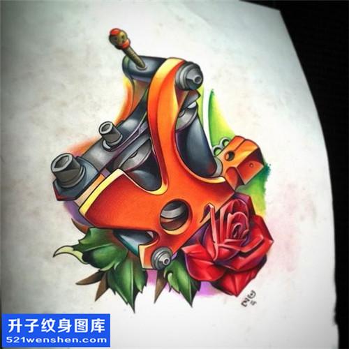 男性彩色欧美纹身机纹身手稿图案大全