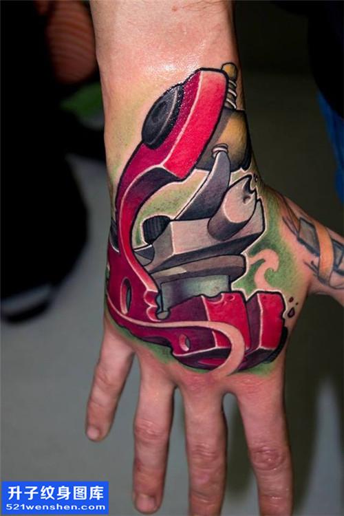 男性欧美手背彩色纹身机图案大全