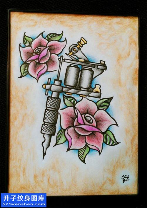 女性欧美纹身机纹身手稿图案大全