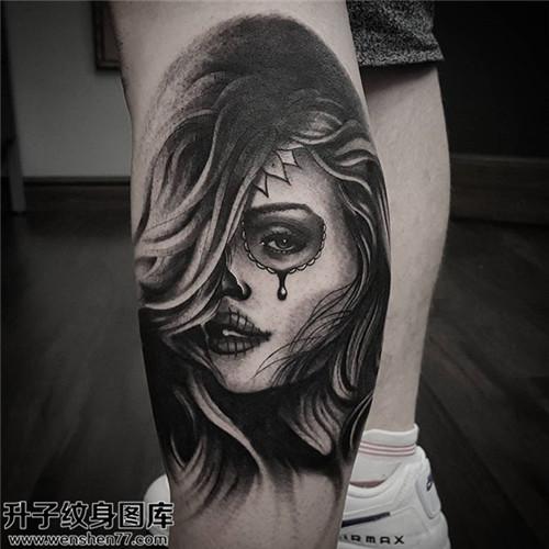 男性小臂欧美肖像纹身图案大全