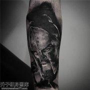 重庆纹身哪里好 男性小臂欧美肖像纹身一片大全