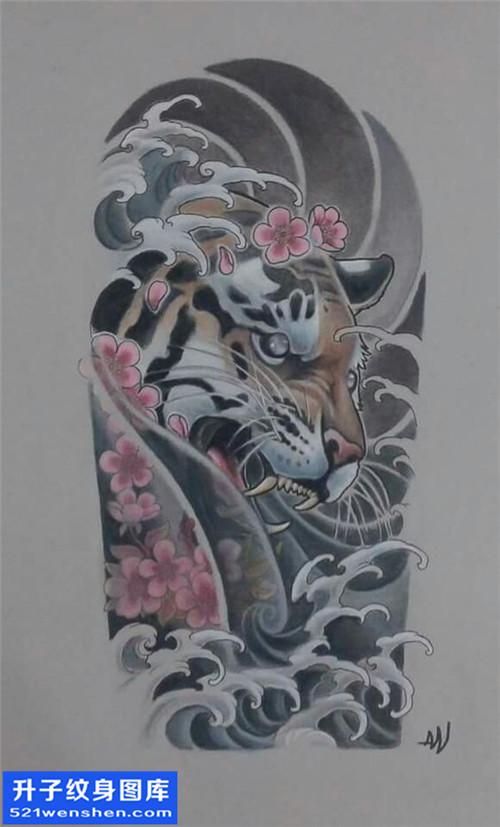 纹身手稿传统老虎纹身图片大全