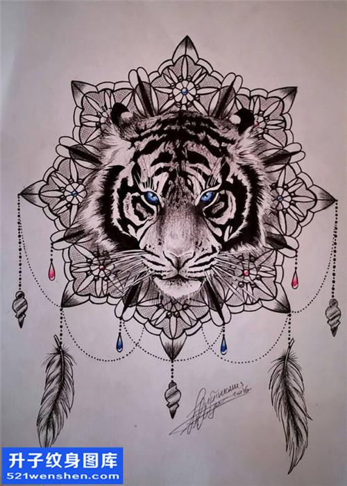 纹身手稿欧美老虎纹身图案大全