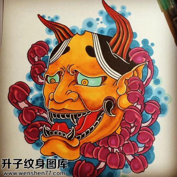纹身手稿传统般若纹身图案大全
