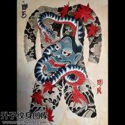 纹身手稿传统般若蛇纹身图案大全