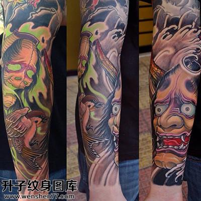 男性传统小臂般若纹身图案大全