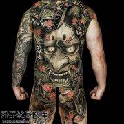 男性传统满背般若蛇纹身图案大全