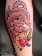 男性小臂欧美彩色老鼠纹身图片大全