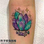 女性小臂欧美彩色钻石纹身图案大全