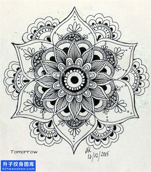纹身手稿梵花纹身图案大全