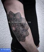 男性大臂梵花纹身图案大全