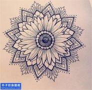 纹身手稿梵花纹身图片大全