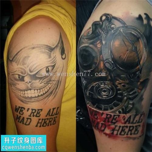 男性大臂遮盖欧美纹身图片大全