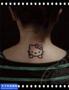 女性脖子小清新猫咪纹身图案大全