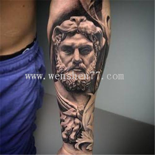 欧美希腊神话人物纹身图案 大坪纹身