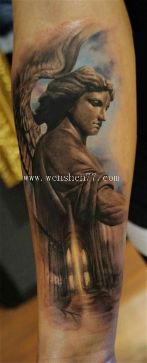 手臂天使纹身图案大全