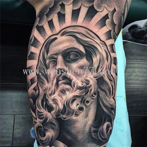手臂耶稣纹身图案大全 石桥铺纹身