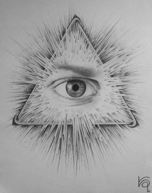 全视之眼纹身手稿图案大全