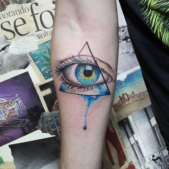 手臂眼睛纹身图案大全 南坪纹身