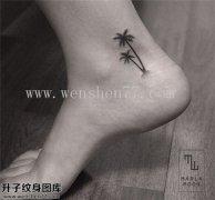脚踝椰子树纹身图案大全