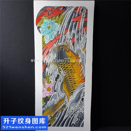 鲤鱼纹身手稿图案大全 江北纹身