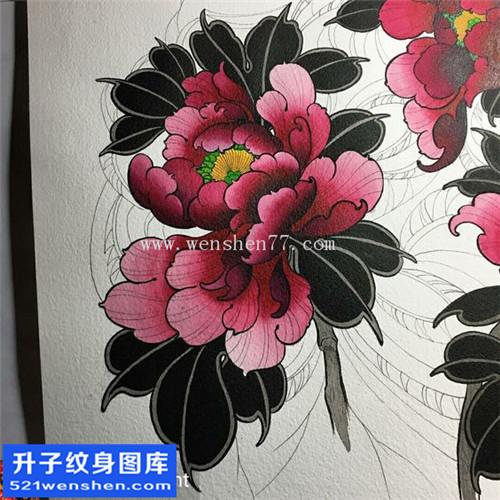 纹身手稿传统与牡丹纹身图案大全