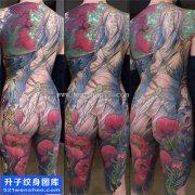 美女性感的满背纹身图片大全