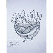 海豚纹身手稿图案