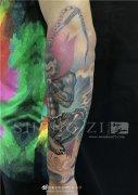花臂纹身 大圣纹身 猴子包小臂纹身图案