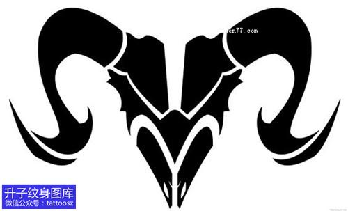 羊图腾纹身图案