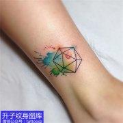 脚踝小清新几何图案纹身图案