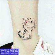 脚踝小可爱清新小猫咪纹身图案