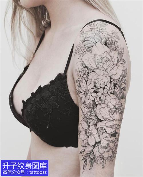 重庆大臂外侧素花纹身图案推荐