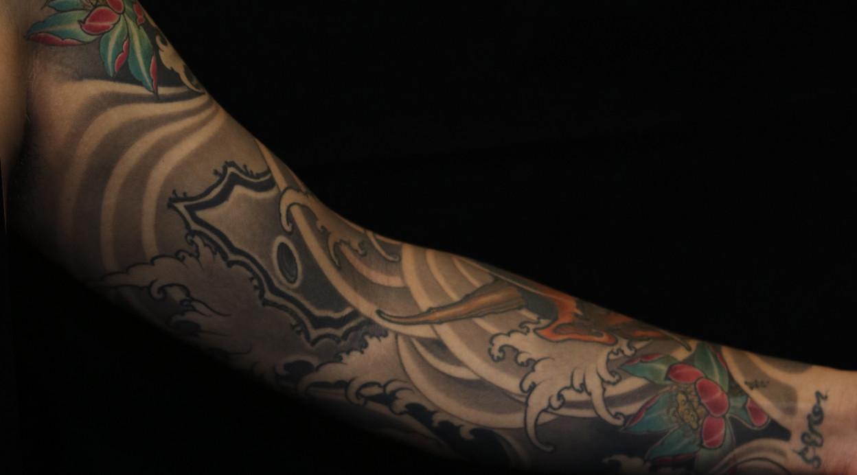观音桥纹身 新传统花臂纹身图案