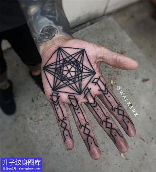 六款个性时尚手掌心纹身图案大全