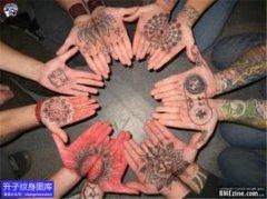 手掌心的纹身图案大全