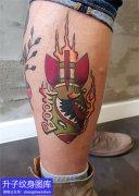 小腿弹药鲨鱼纹身图案
