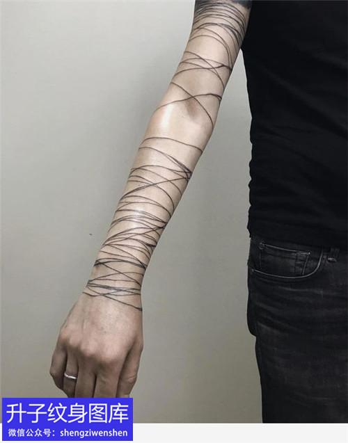 5张水墨涂鸦纹身图案