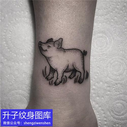 脚踝小清新动物纹身图案