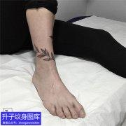 重庆专业纹身店脚踝树叶纹身图案