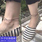 璧山的脚踝脚链纹身图案