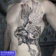 南坪侧腰暗黑系列纹身图案大全