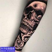 重庆刺青 手臂骷髅纹身图案大全