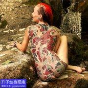 重庆刺青店推荐的满背章鱼纹身图案
