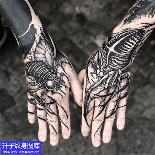手背暗黑系列纹身图案