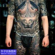 通体传统般若纹身图案