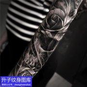 欧美写实骷髅纹身图案